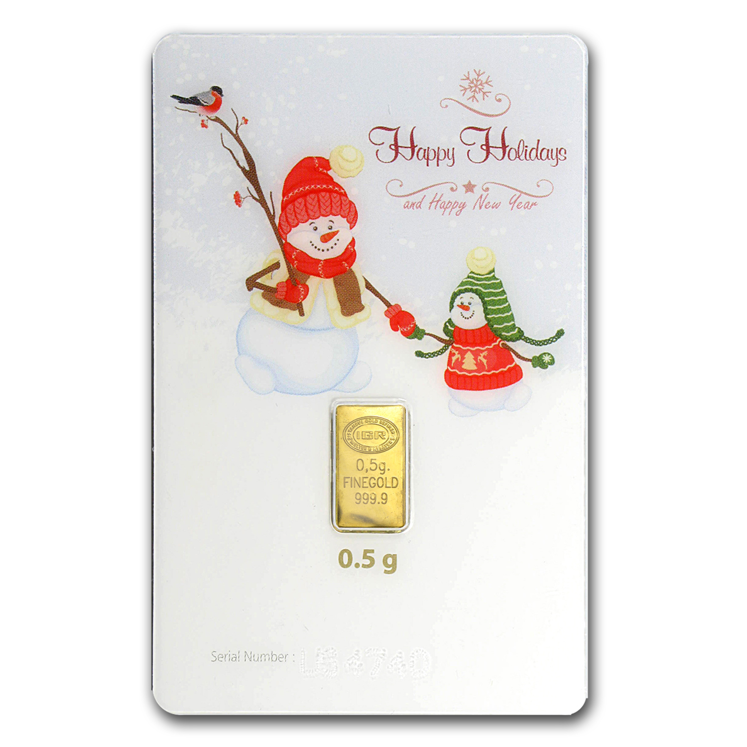 1/2 gram Gold Bar - Istanbul Gold Refinery (Holiday Assay)