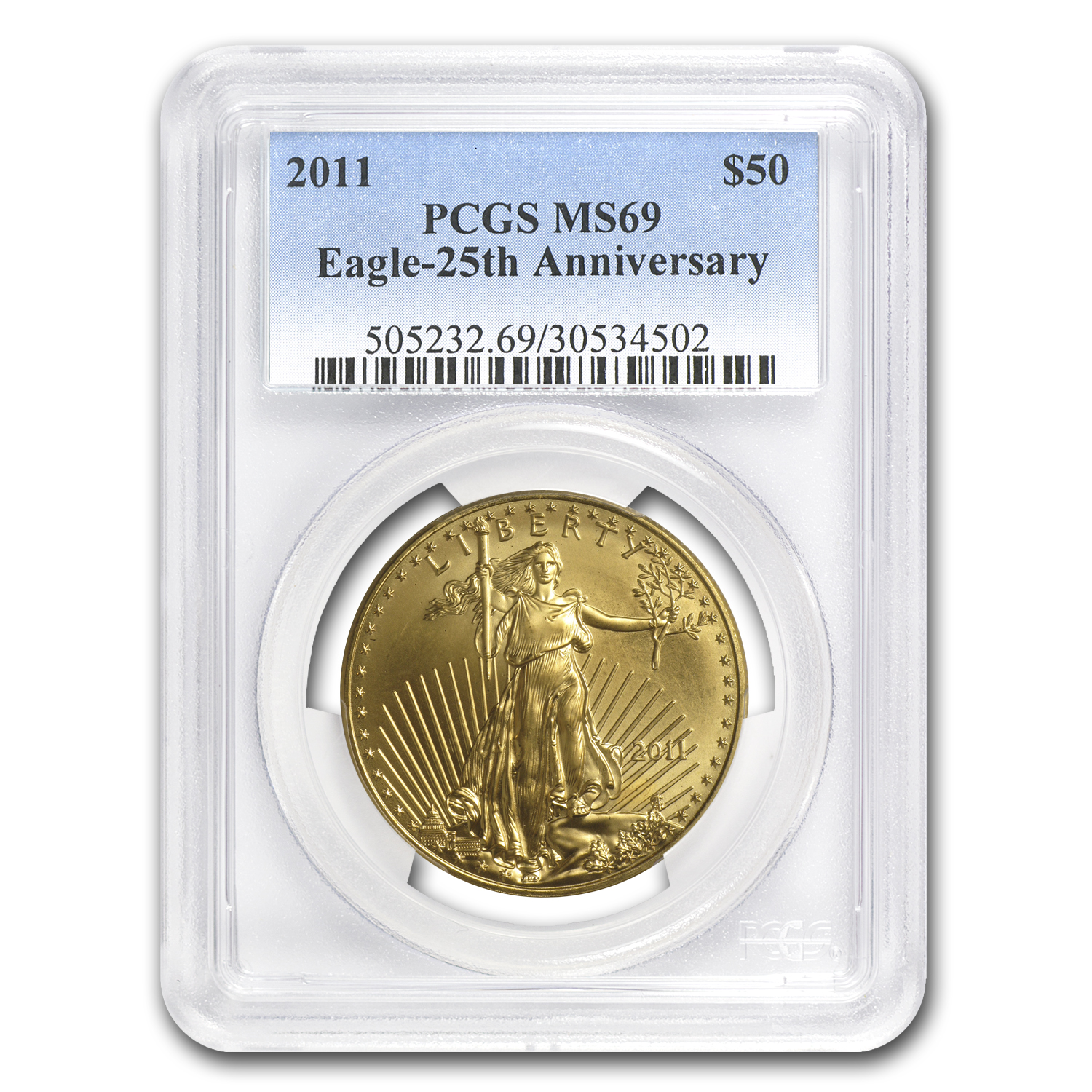 2011 1 oz Gold American Eagle MS-69 PCGS