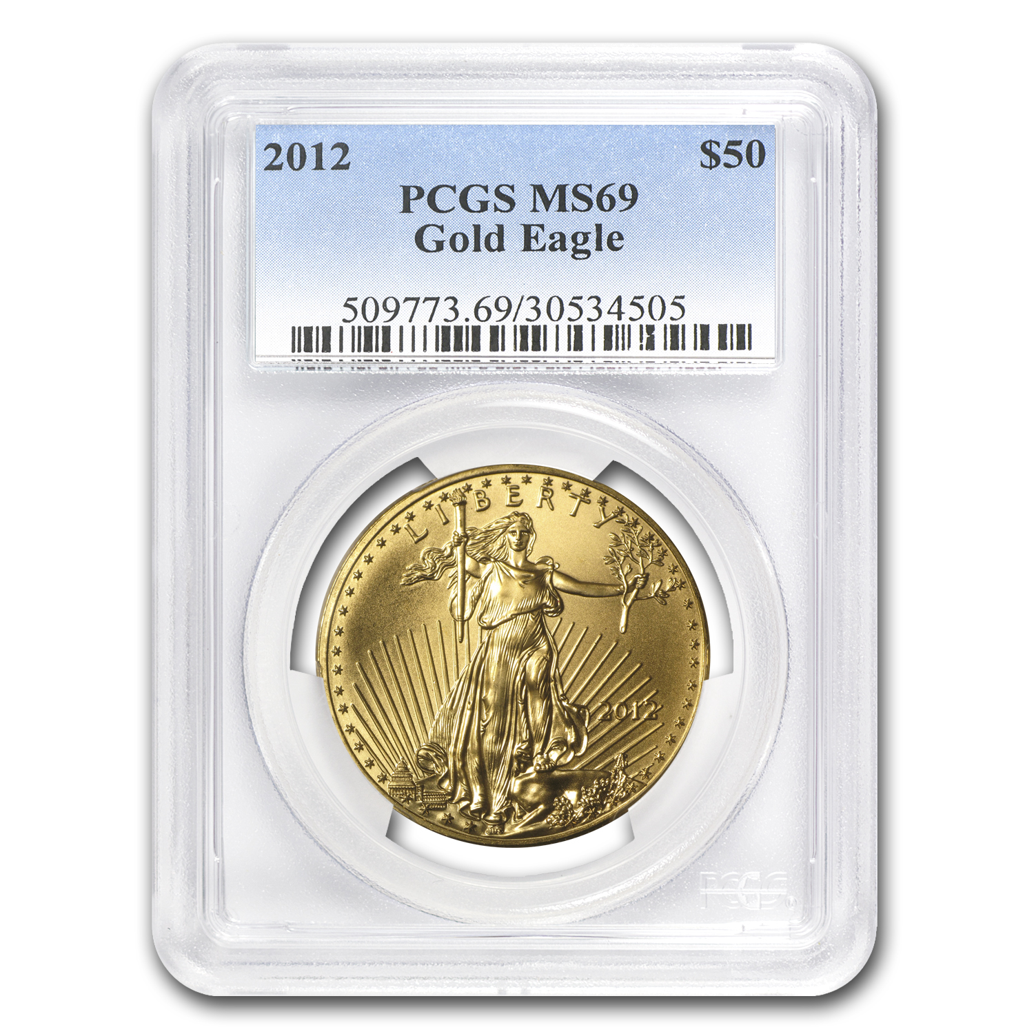 2012 1 oz Gold American Eagle MS-69 PCGS