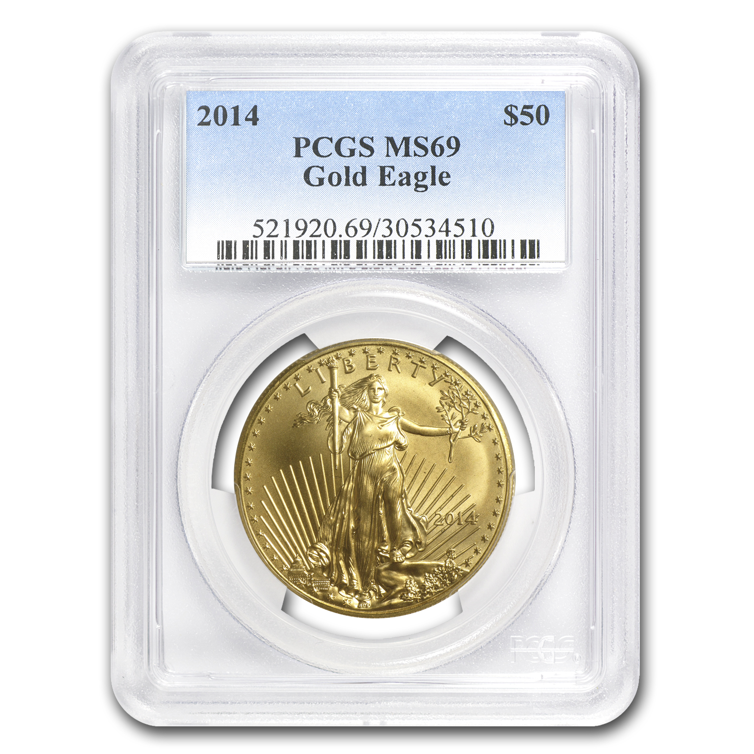 2014 1 oz Gold American Eagle MS-69 PCGS