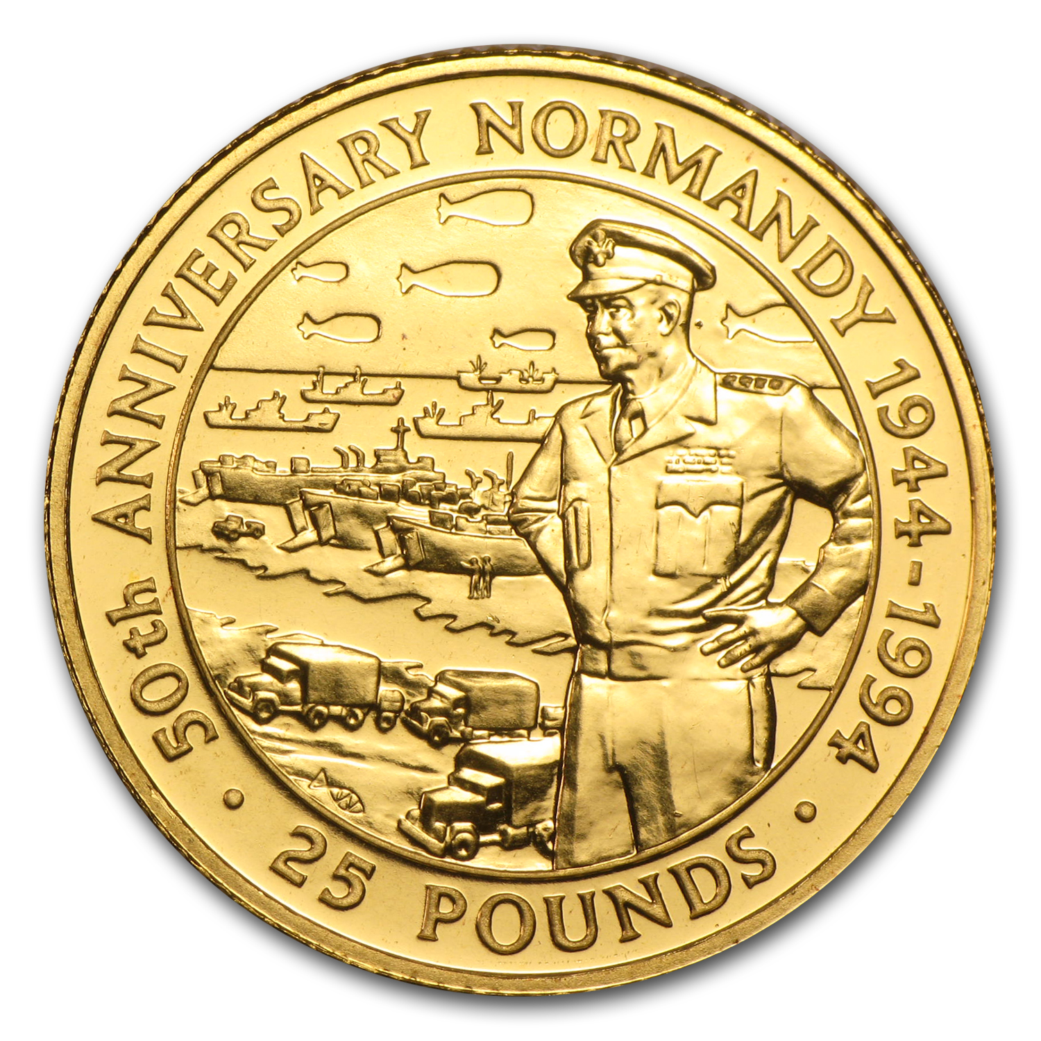 1994 Guernsey Proof Gold £25 D-Day