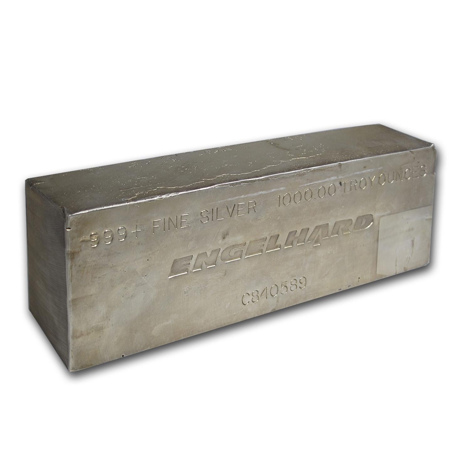 1000 Oz Silver Bar Engelhard Struck 1 000 Oz