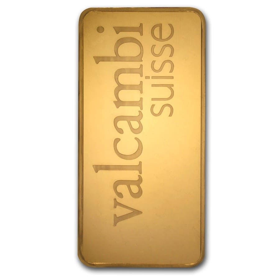 500 gram Gold Bar - Valcambi (Pressed w/Assay)
