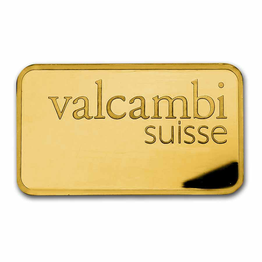 250 gram Gold Bar - Valcambi (Pressed w/Assay)