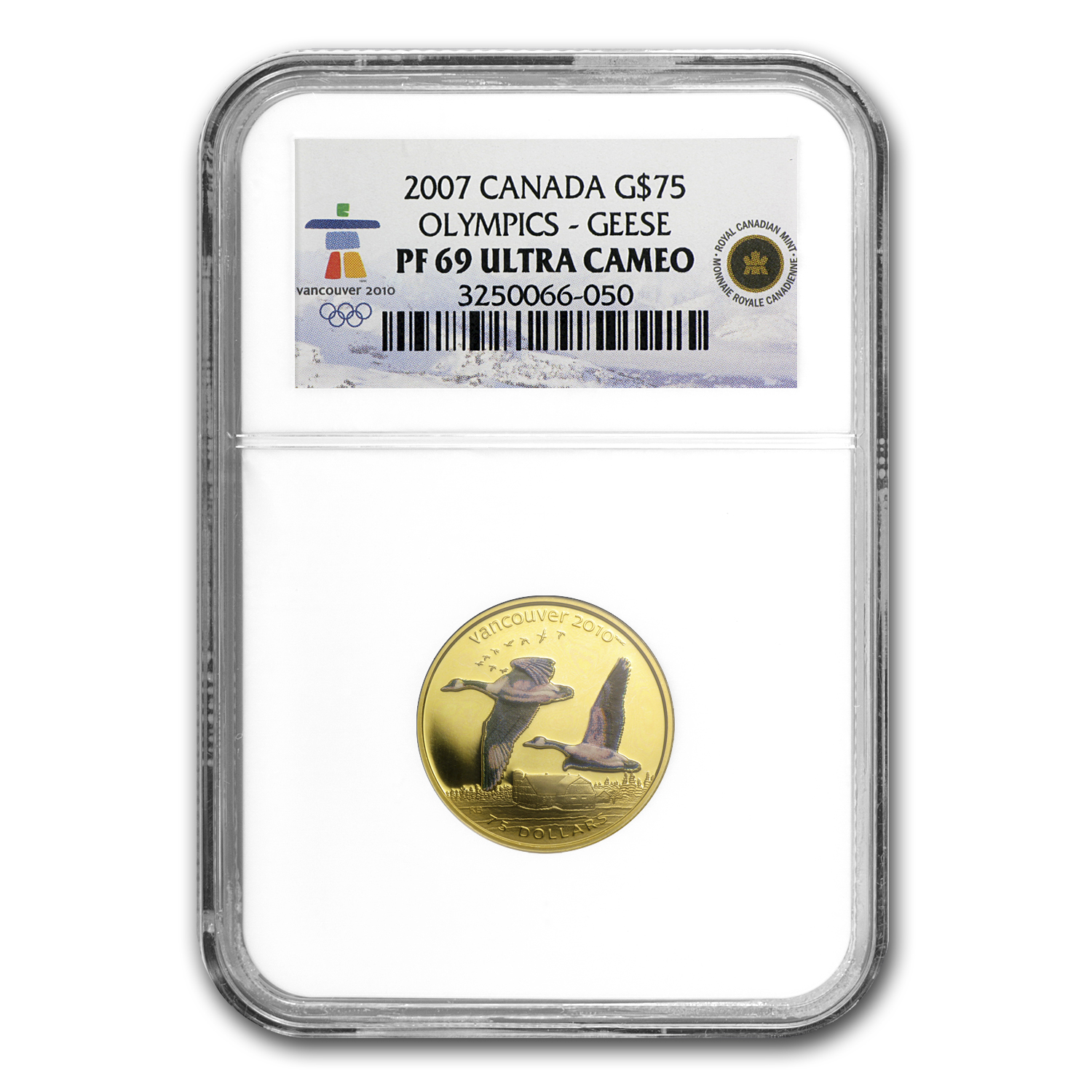 2007 Canada Gold $75 Olympics Canada Geese PF-69 NGC