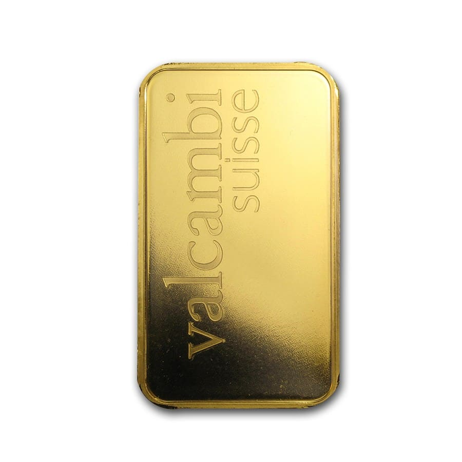 100 gram Gold Bar - Valcambi (Pressed w/Assay)
