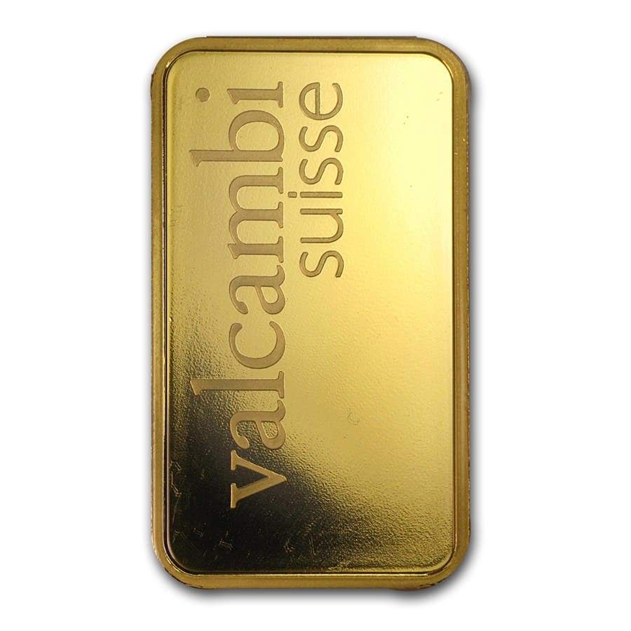 50 gram Gold Bar - Valcambi (Pressed w/Assay)