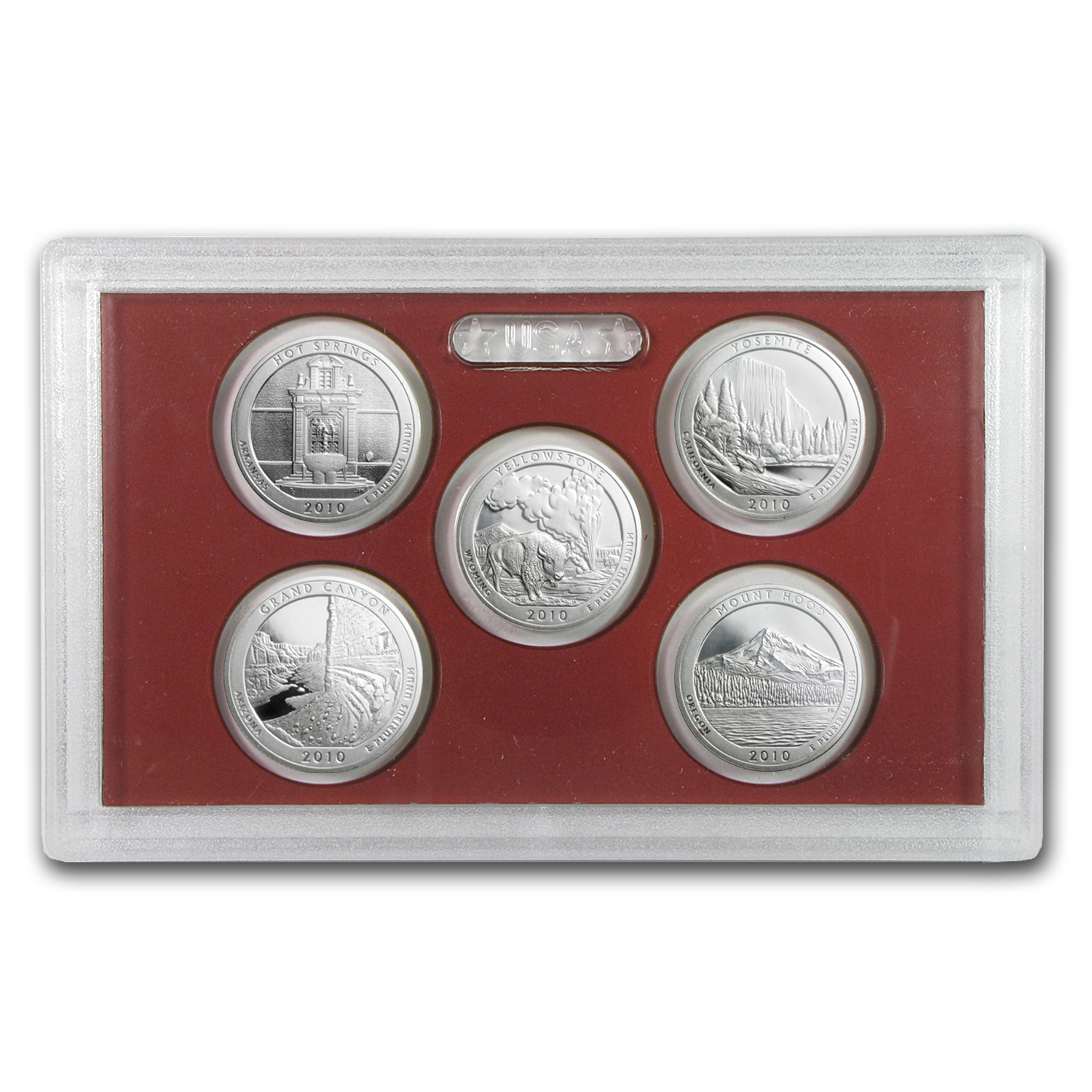 2010 America the Beautiful Quarters Silver Proof Set