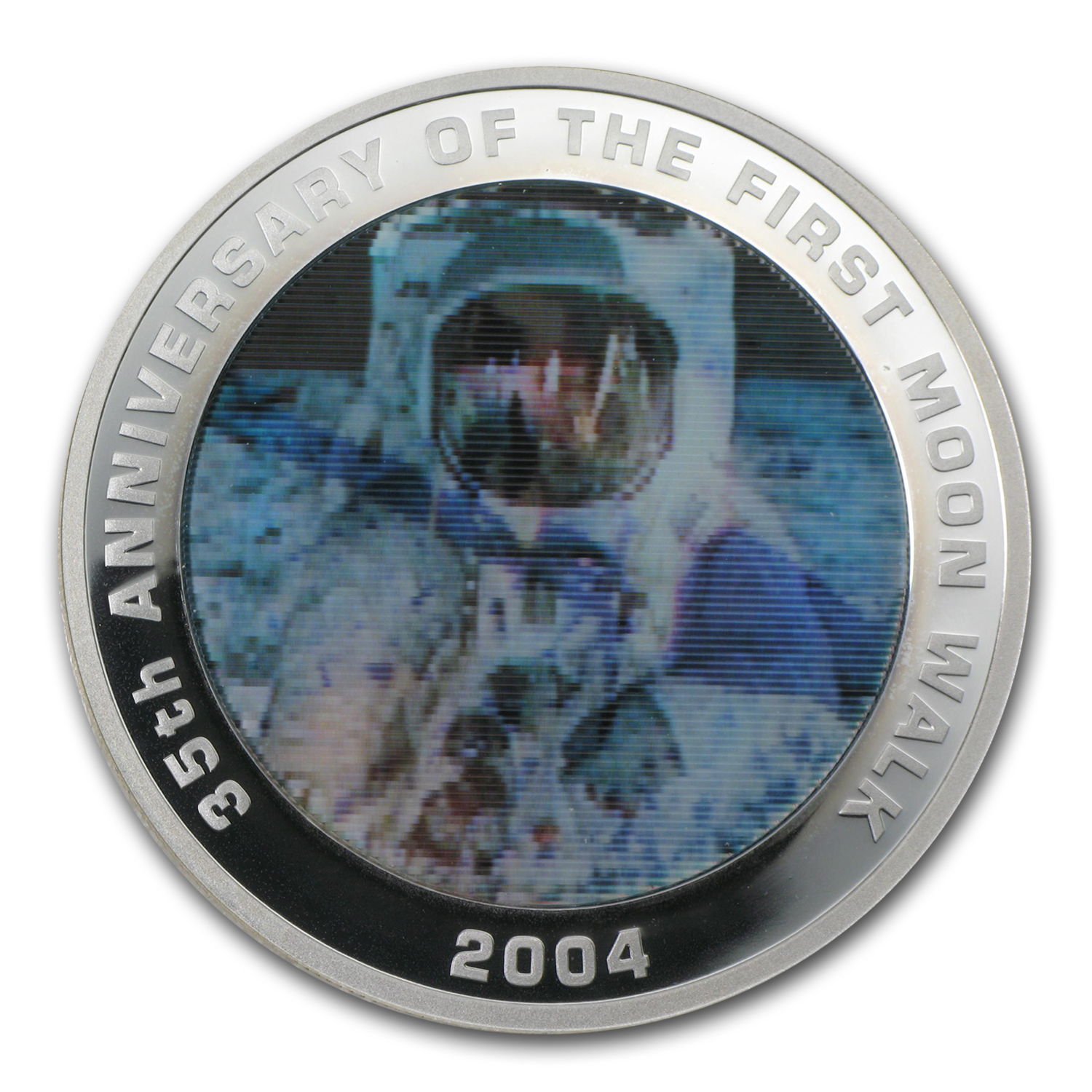 2004 1 oz Silver 35th Anniversary of the First Moon Walk Proof