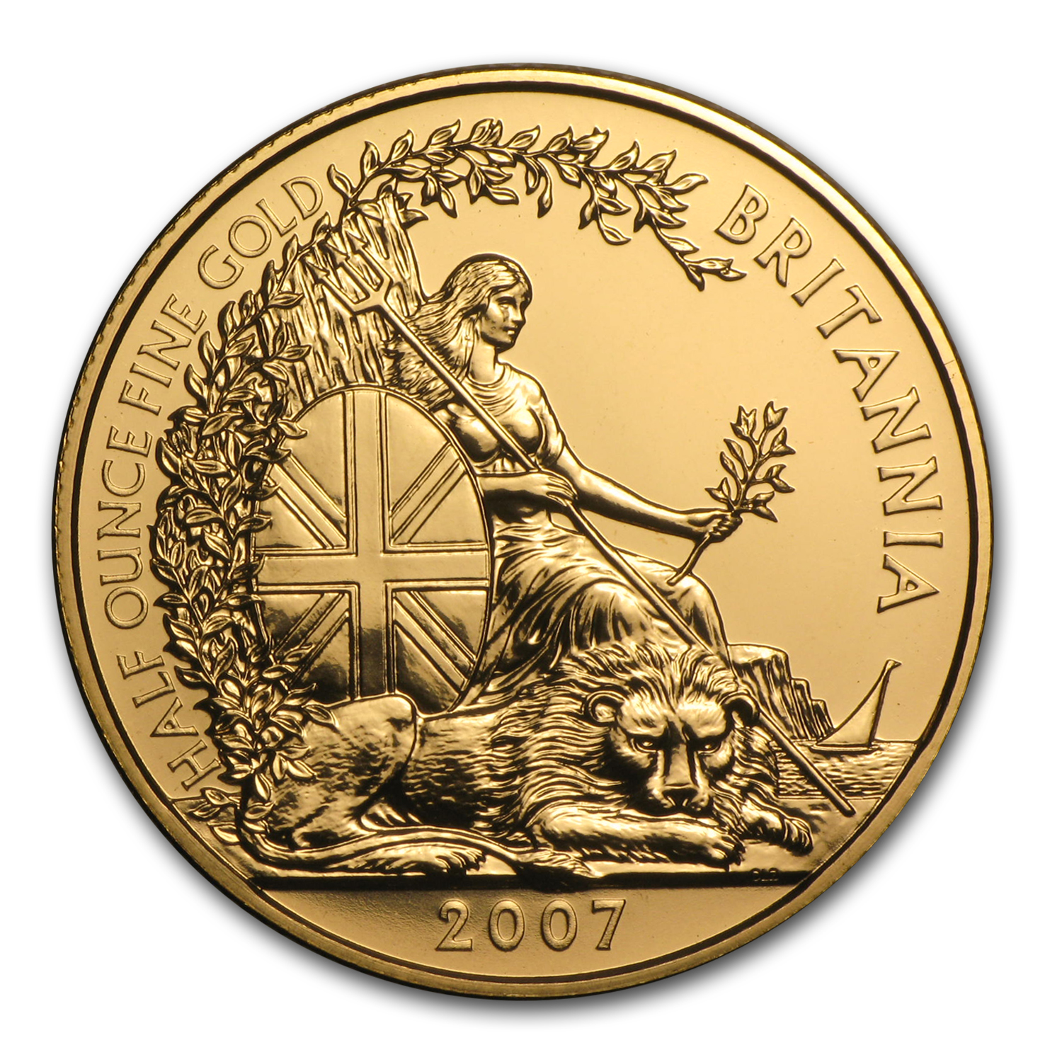 2007 Great Britain 1/2 oz Gold Britannia BU