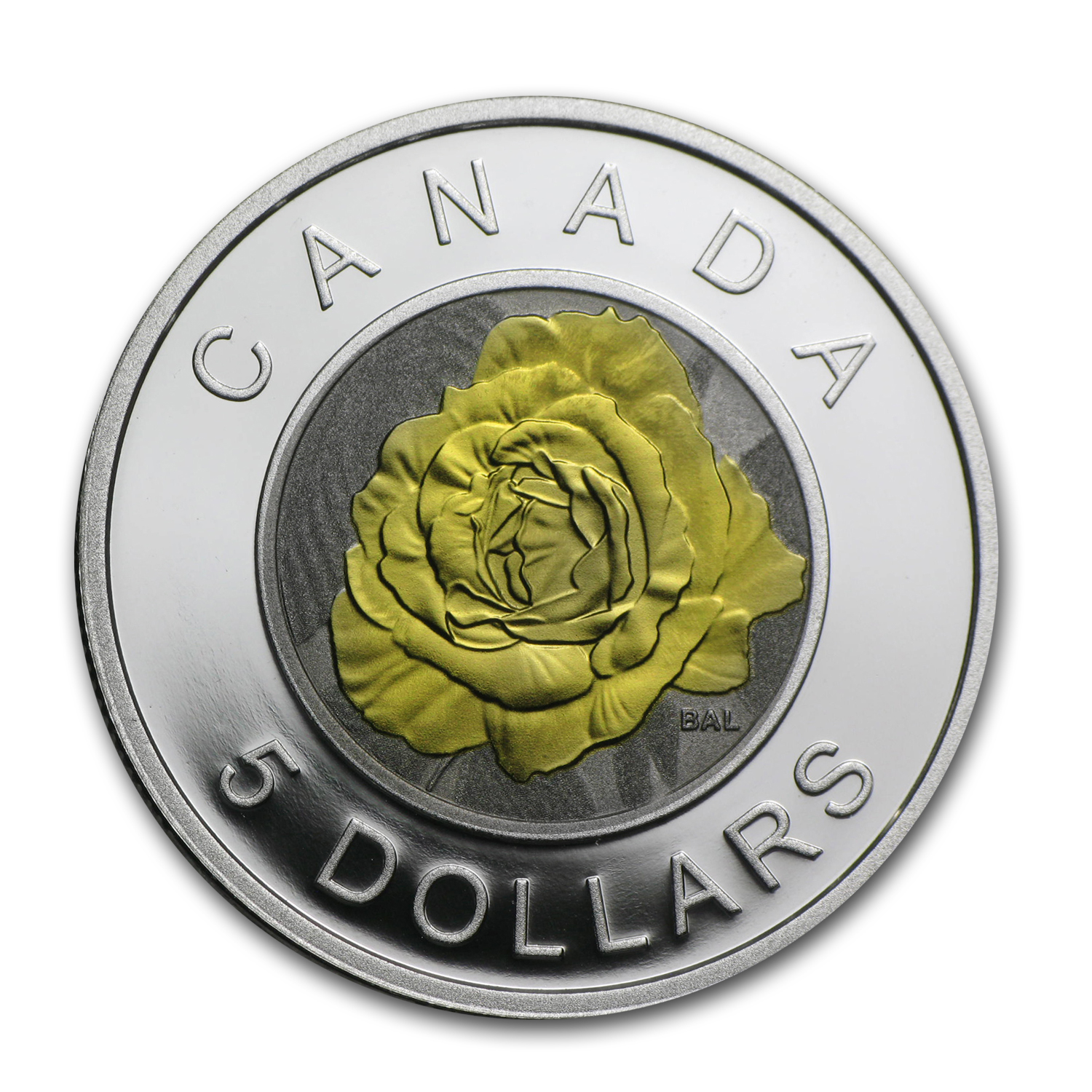 2014 Silver & Niobium Canadian $5 Flowers in Canada (Rose)