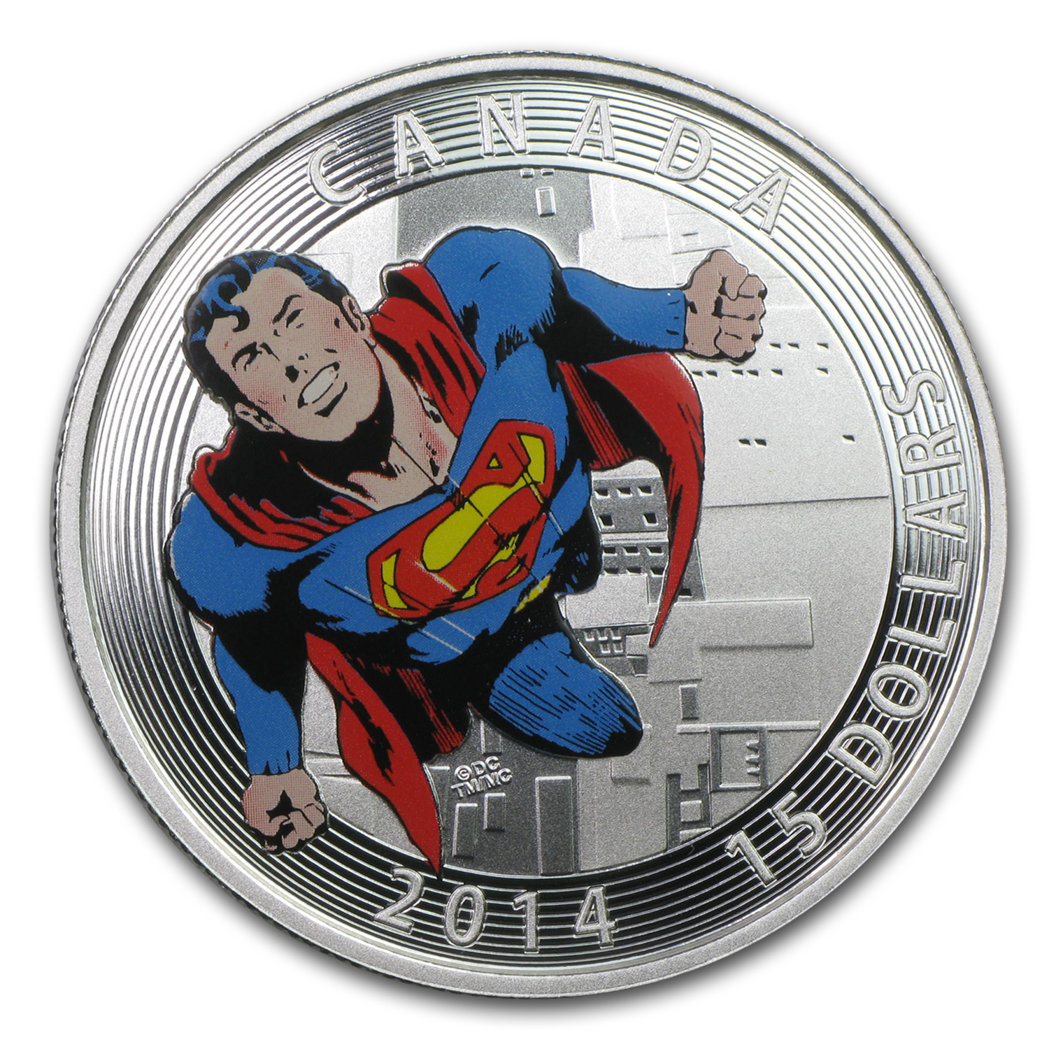 2014 Canada Silver Iconic Superman™ Comic Book Covers (#419)