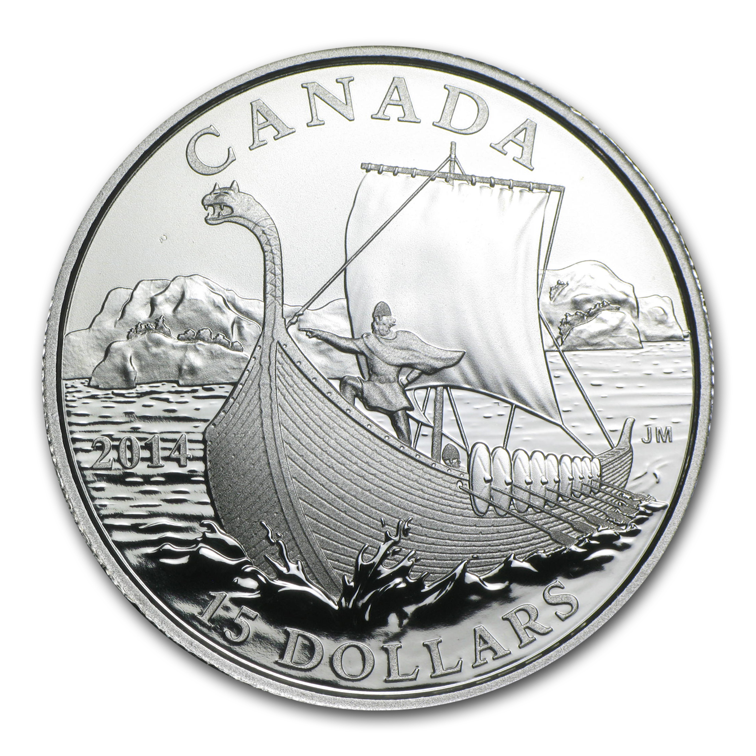 2014 Silver Canadian $15 Exploring Canada (The Vikings)