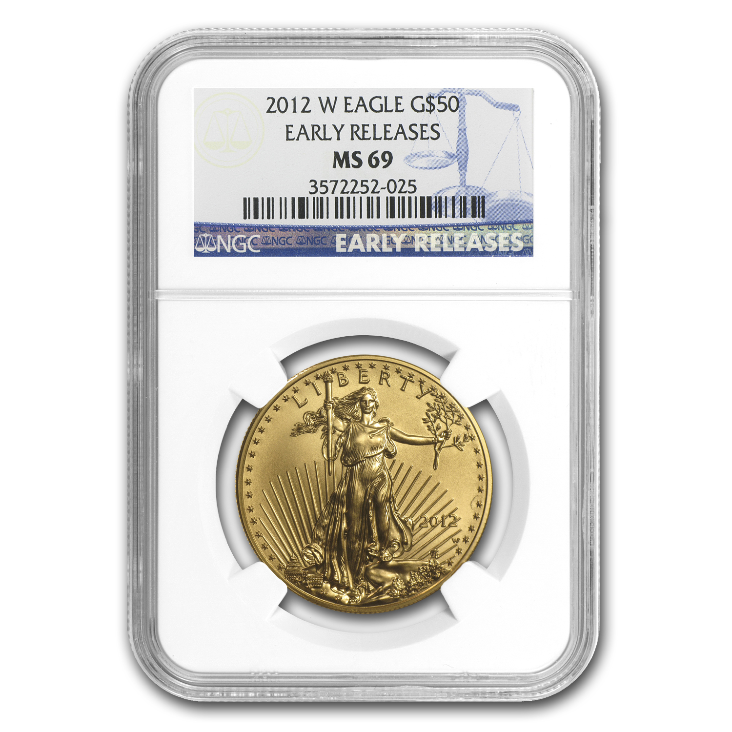 2012-W 1 oz Burnished Gold Eagle MS-69 NGC (ER)