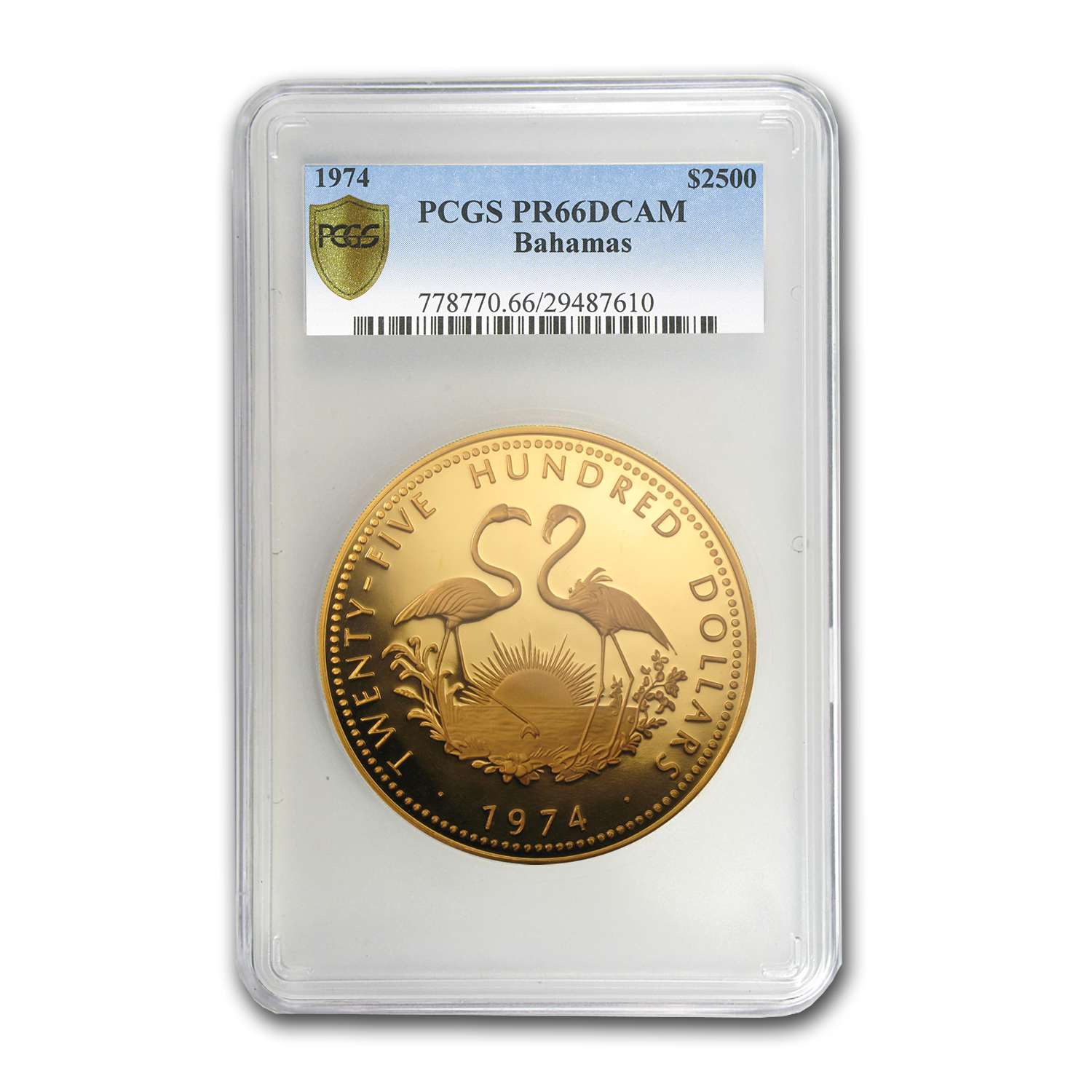 1974 Bahamas 12 oz Proof Gold $2500 PF-66 PCGS