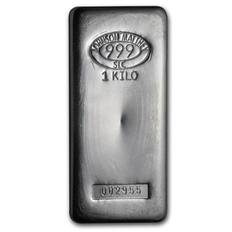 Johnson Matthey 1 Kilo Silver Bullion Bar 1 Kg Of Silver