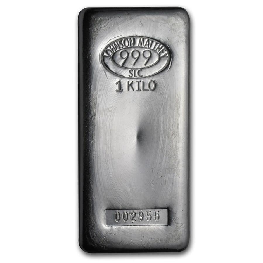 Johnson Matthey 1 Kilo Silver Bullion Bar 1 Kg Of Silver