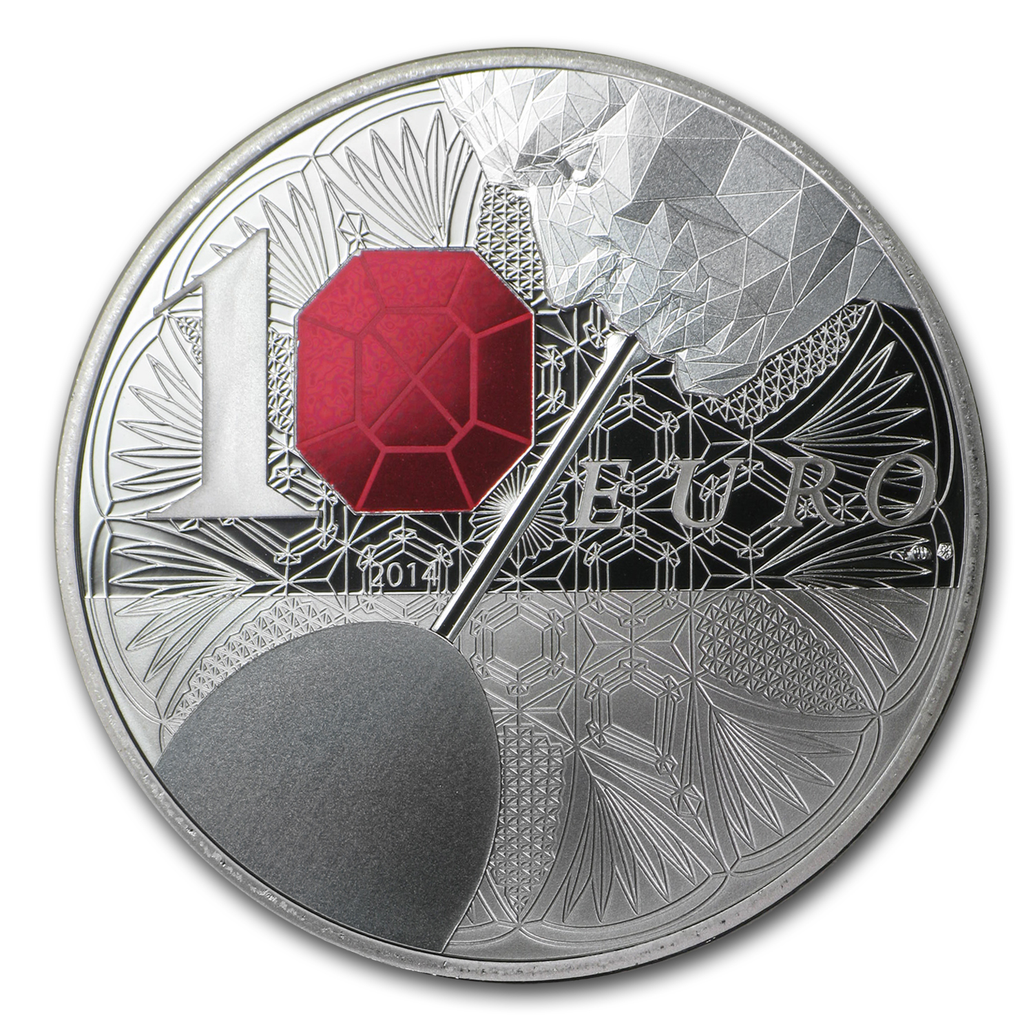 2014 €10 Silver Excellence Series Proof (Baccarat)