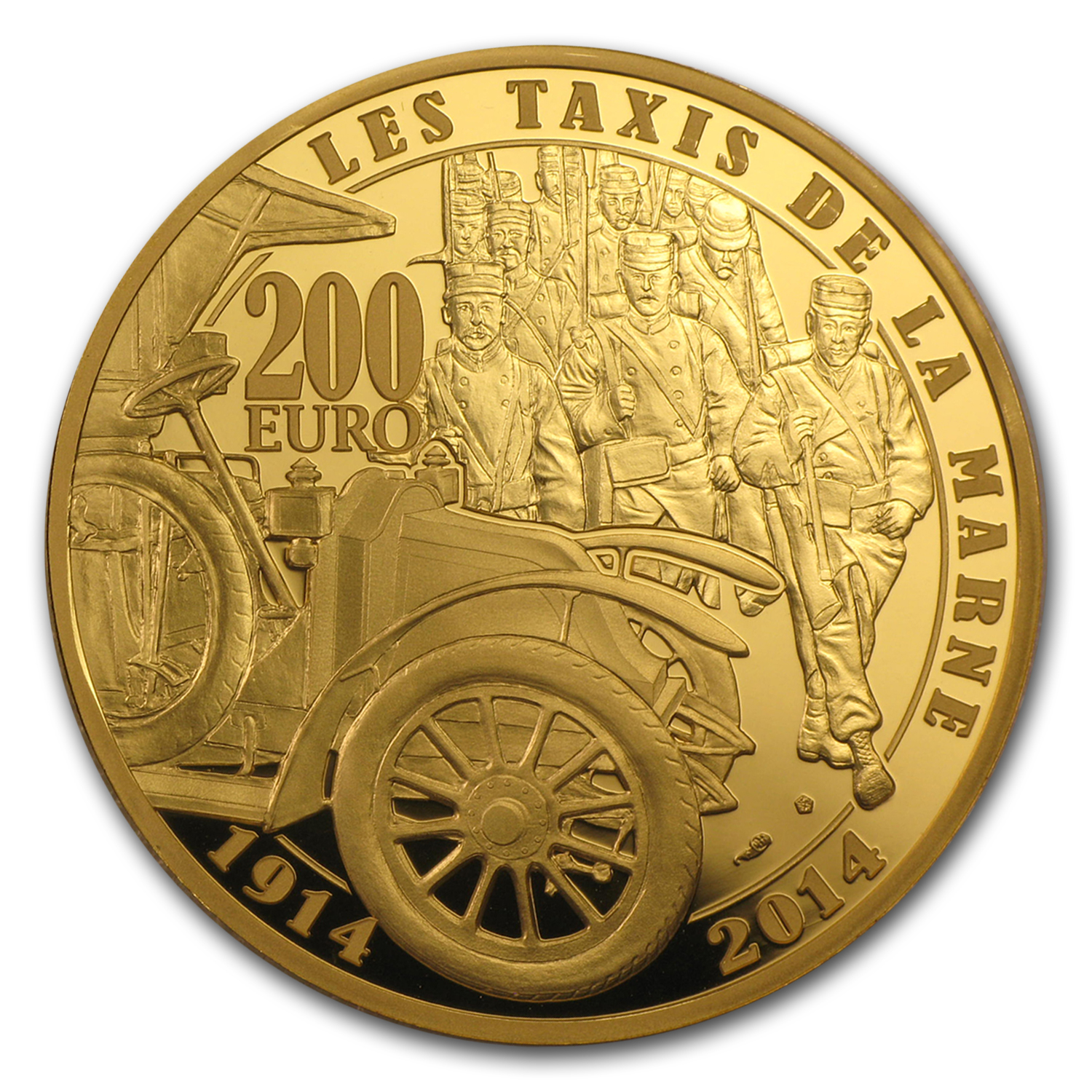 2014 1 oz Proof Gold €200 100th Anniv of World War I
