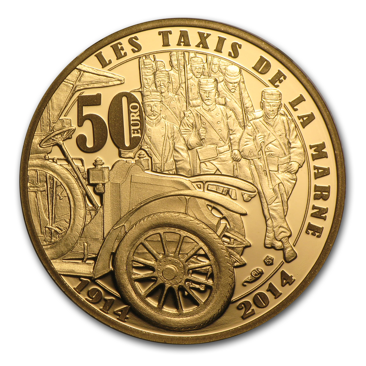 2014 1/4 oz Proof Gold €50 100th Anniv of World War I