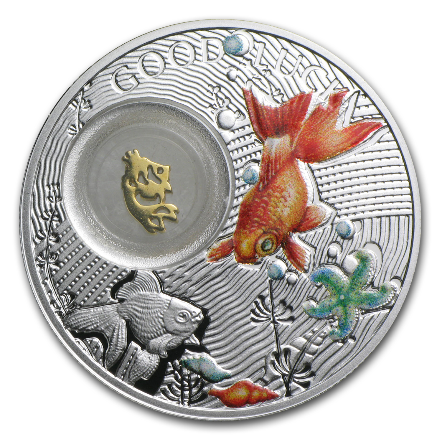 2014 Niue Silver $1 Good Luck Series Goldfish Proof