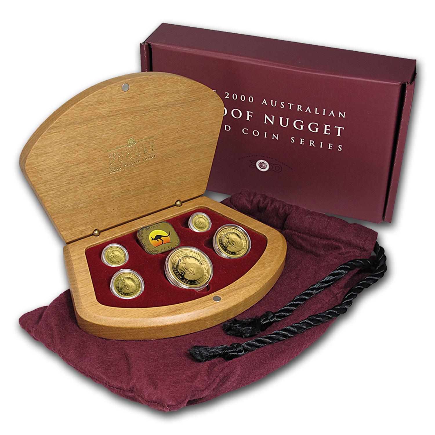 2000 Australia 5-pc Gold Nugget Proof Set