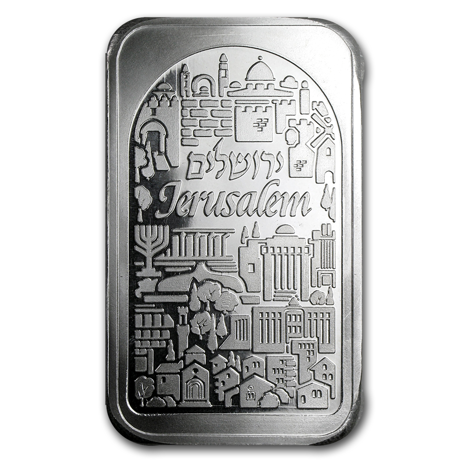 5 oz Silver Bar - Holy Land Mint (Jerusalem City of Peace)