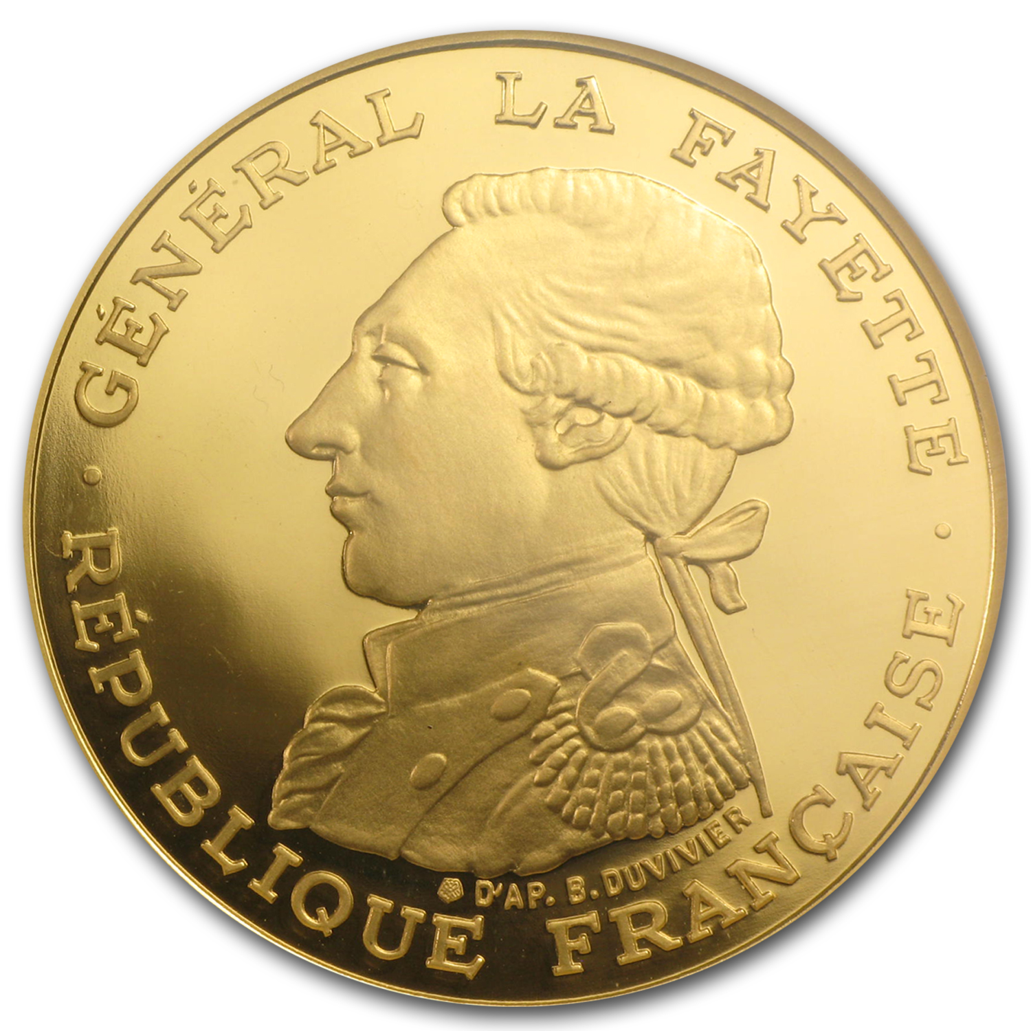 1987 France Proof Gold 100 Francs Lafayette PF-67 NGC
