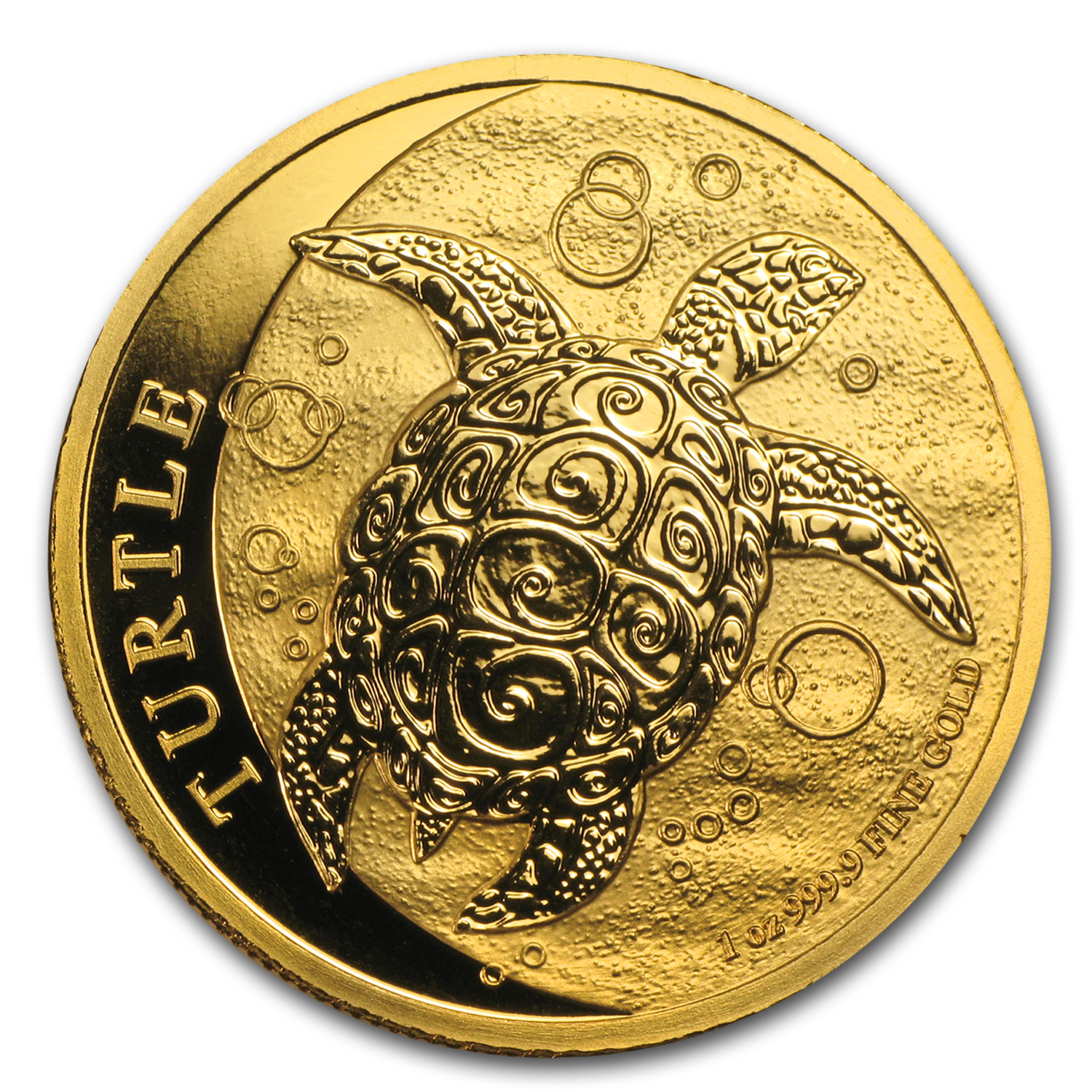 2014 1 oz Gold New Zealand $200 Niue Hawksbill Turtle BU