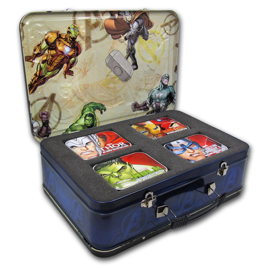 2014 Niue 4 Coin Silver The Avengers Proof Set Silver