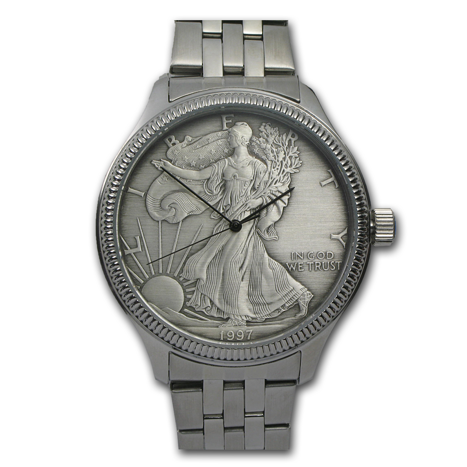 Men's Silver American Eagle Watch - Stainless Steel Bracelet