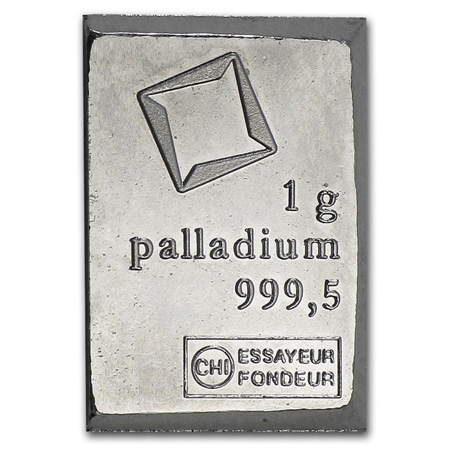 Valcambi Suisse Palladium Bullion Bar One Gram Of