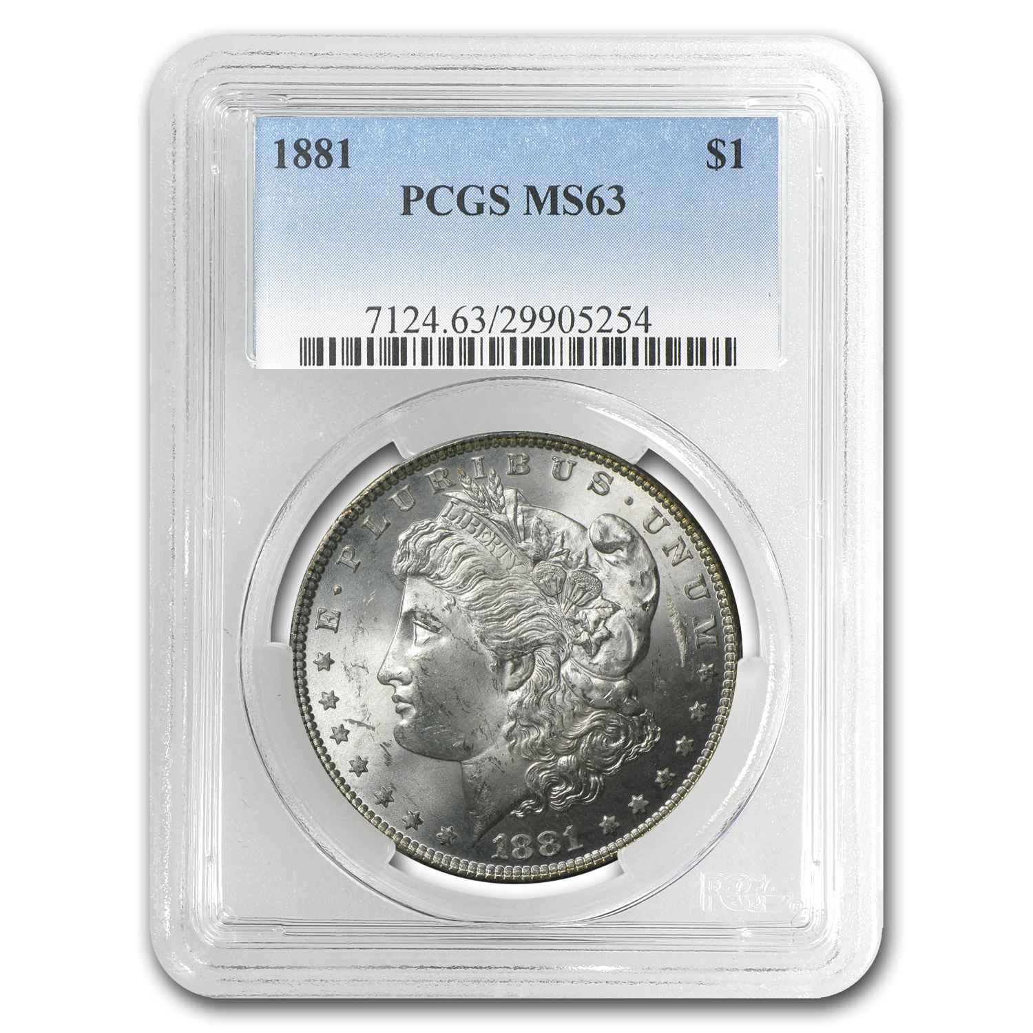 1881 Morgan Dollar MS-63 PCGS