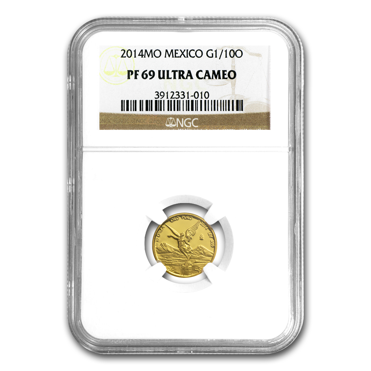 2014 Mexico 1/10 oz Gold Libertad PF-69 NGC