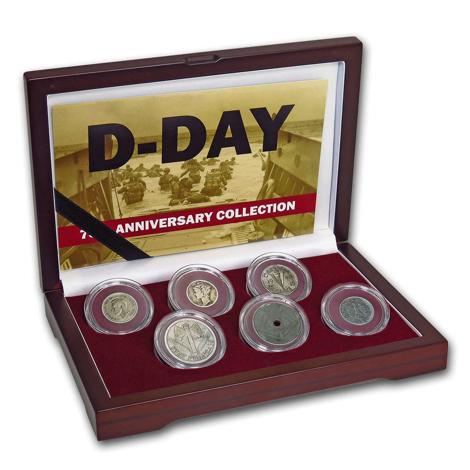 Normandy Invasion 6 Nation Coin Set (D-Day)
