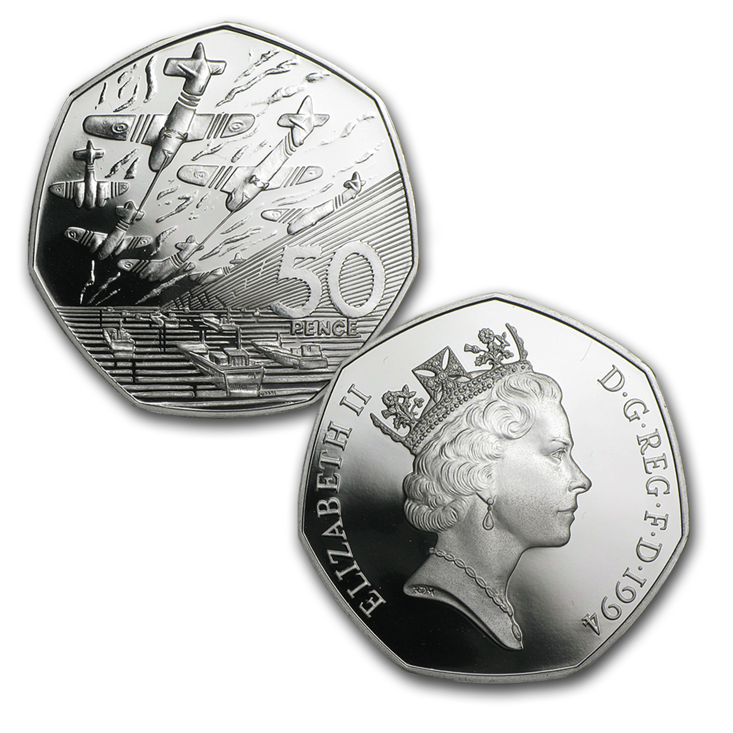 Britain France U S Silver 3 Coin Set D Day Silver