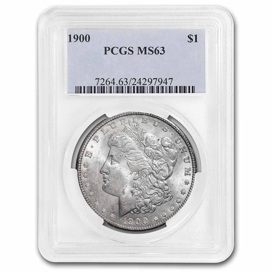 1900 Morgan Dollar - MS-63 PCGS