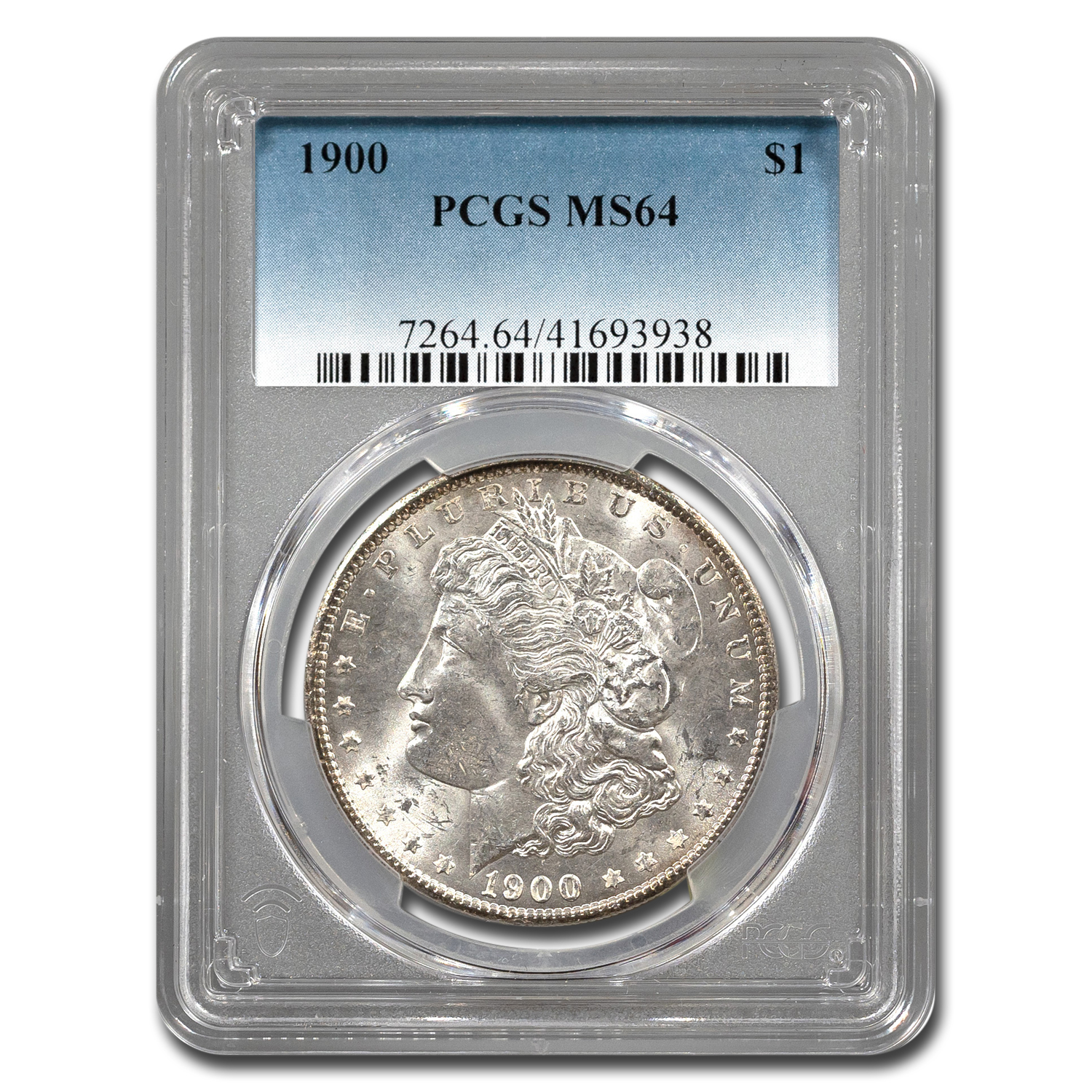 1900 Morgan Dollar - MS-64 PCGS