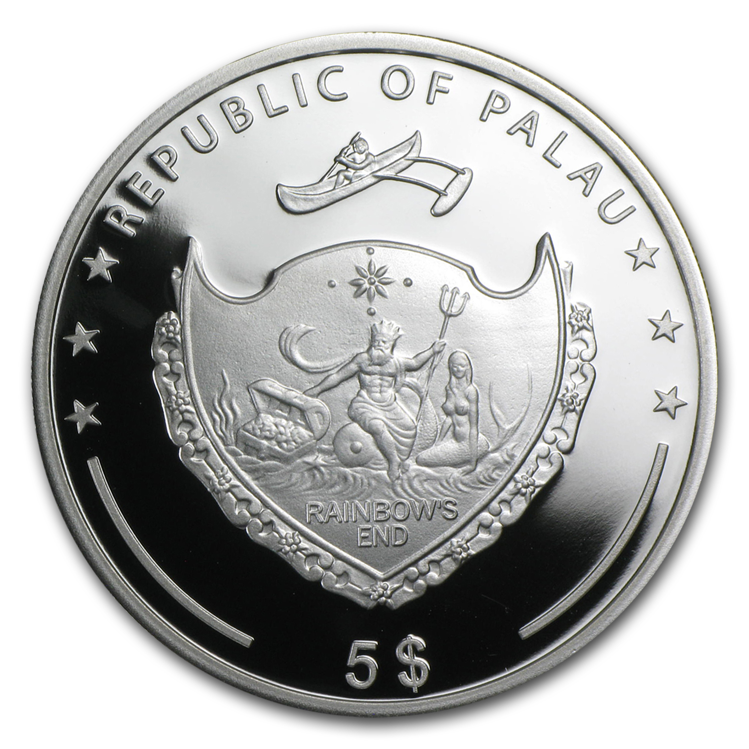 2014 Palau Proof Silver $5 The Fall of The Berlin Wall