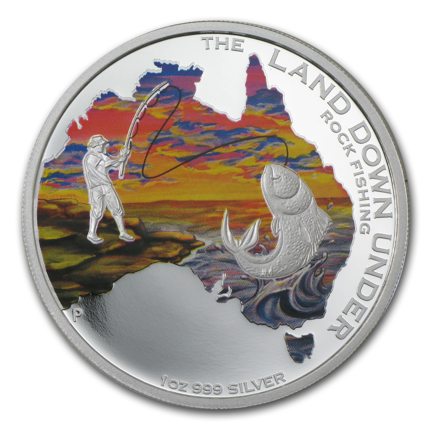 2014 Australia 1 oz Silver The Land Down Under Rock Fishing Prf