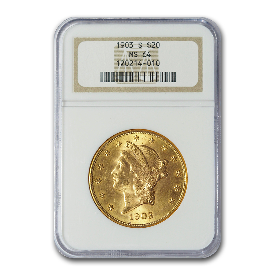 1903-S $20 Liberty Gold Double Eagle MS-64 NGC