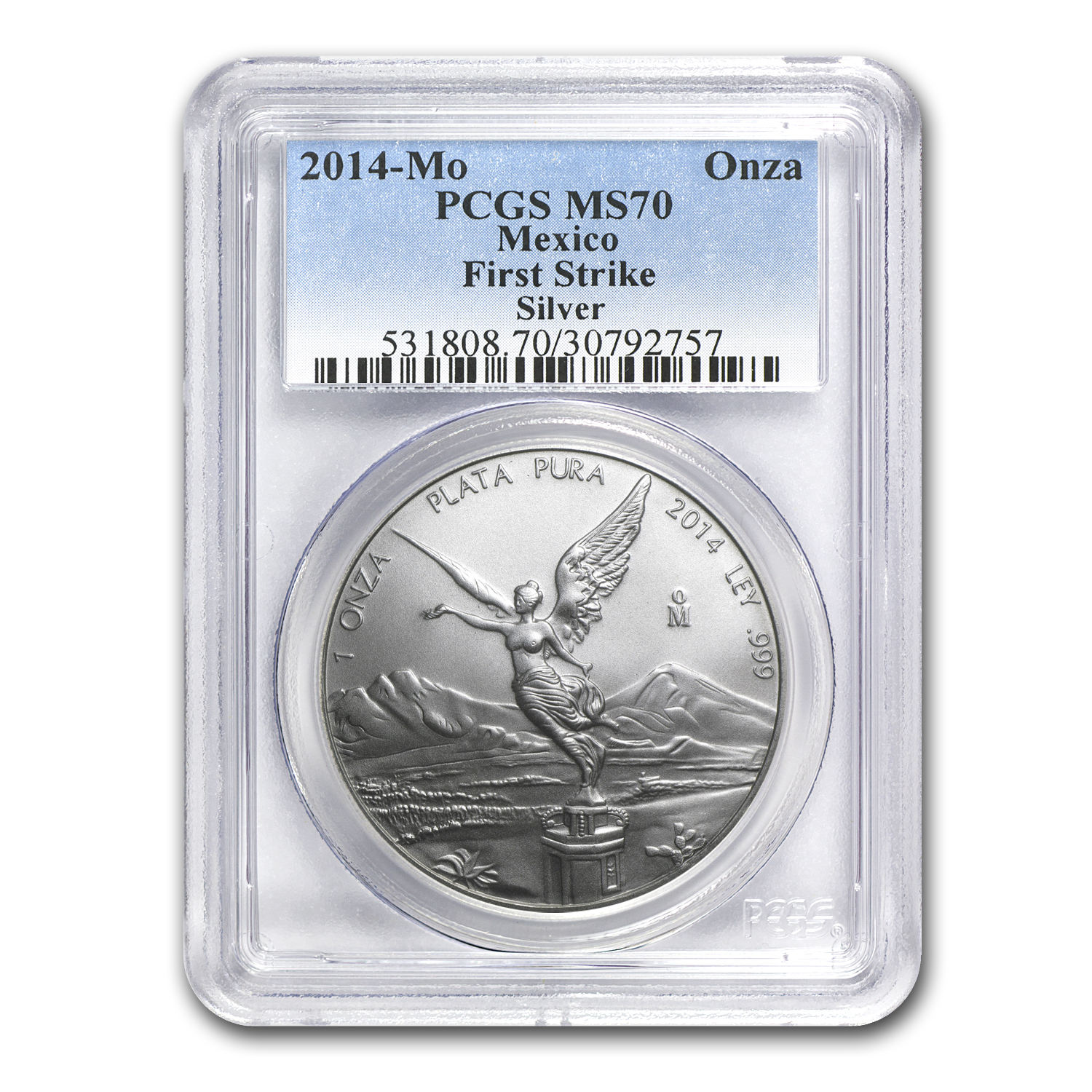 2014 1 oz Silver Mexican Libertad MS-70 PCGS (First Strike)