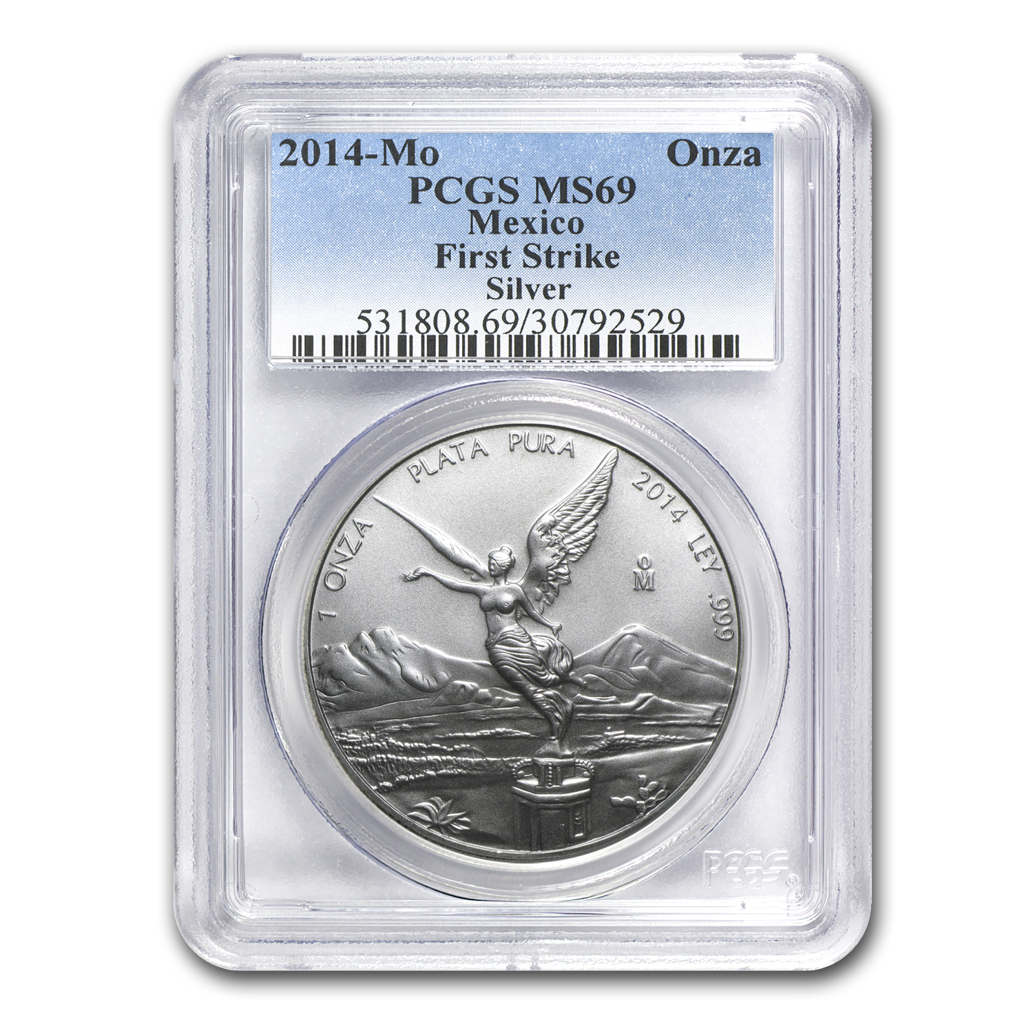 2014 Mexico 1 oz Silver Libertad MS-69 PCGS (First Strike)