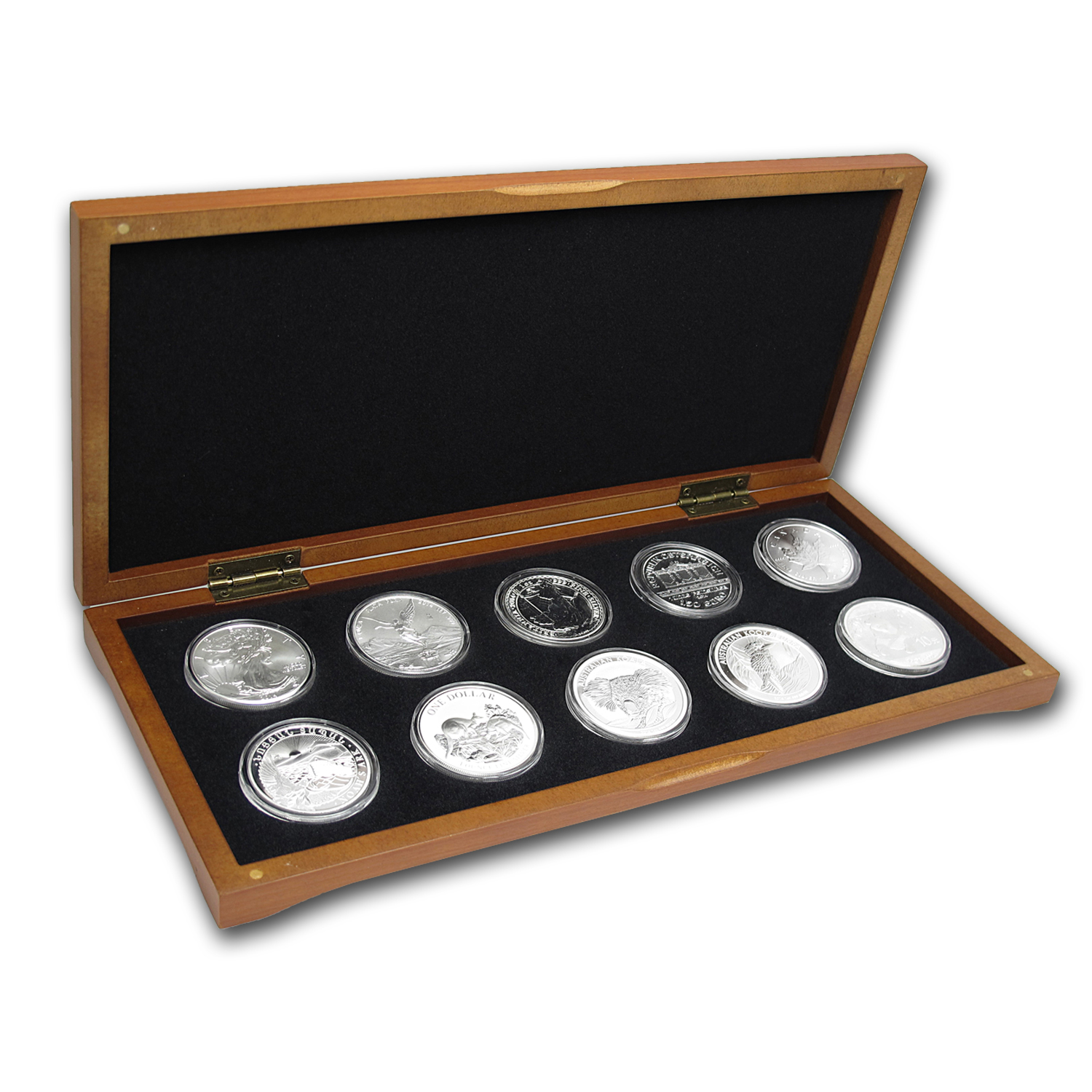 2014 10-Coin 1 oz Around the World Silver Bullion Set BU