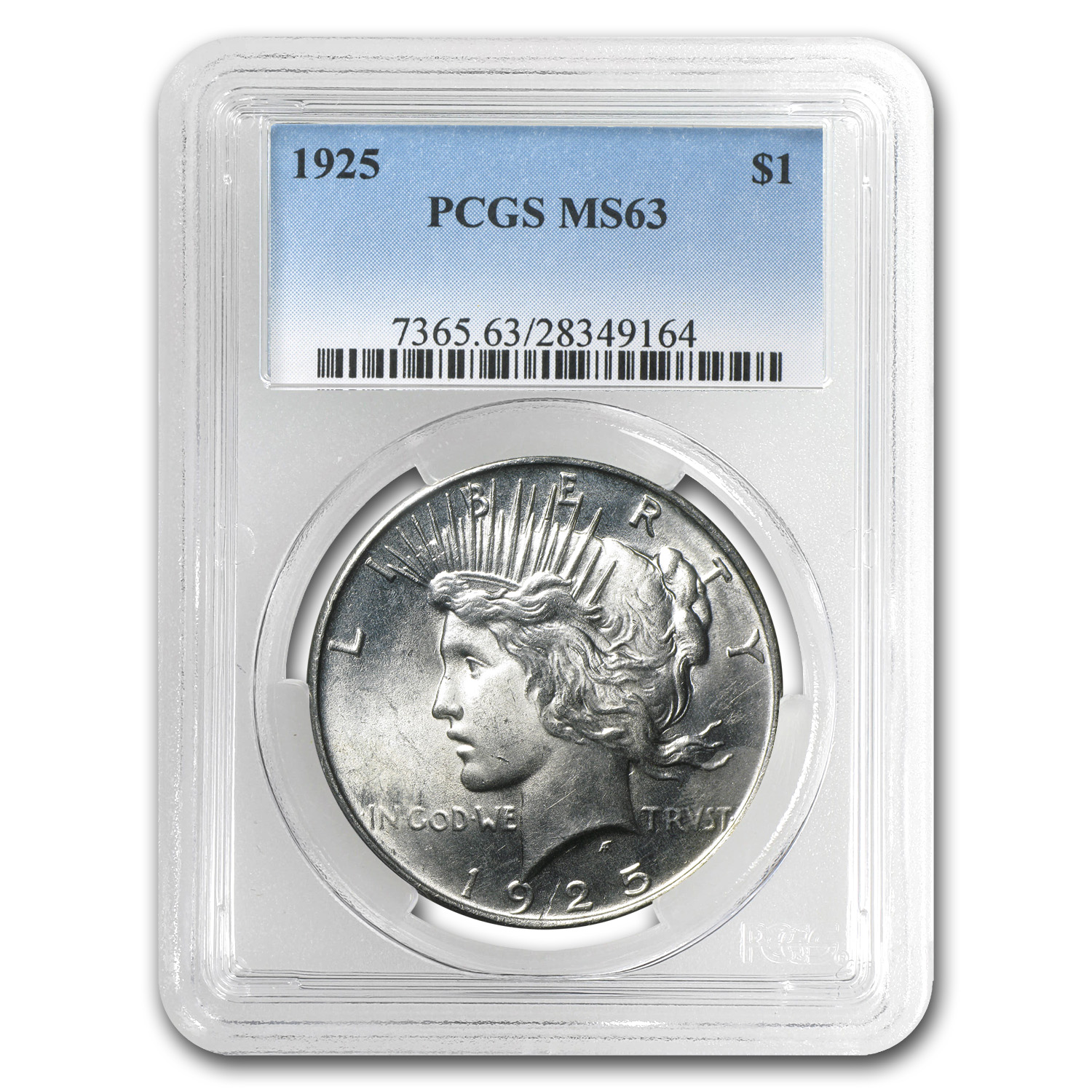 1925 Peace Dollar MS-63 PCGS