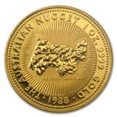 1988 Australia 1 oz Gold Nugget BU