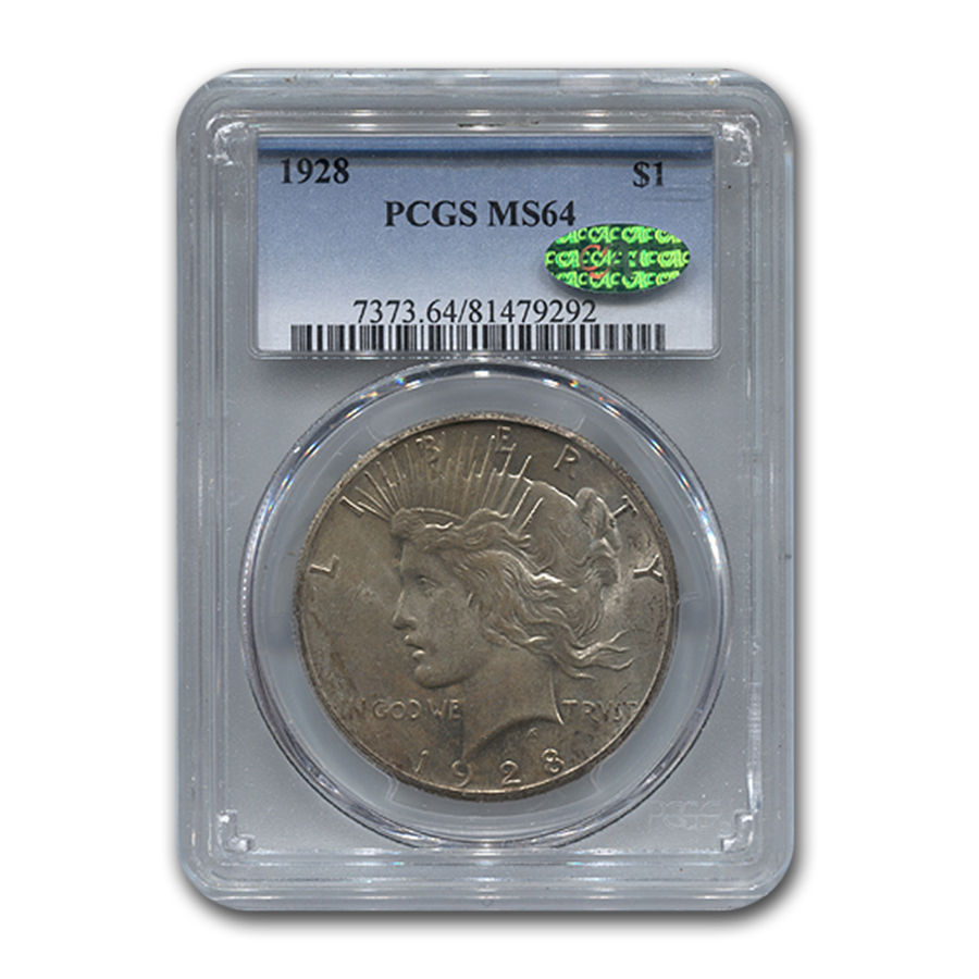 1928 Peace Dollar MS-64 PCGS (CAC)