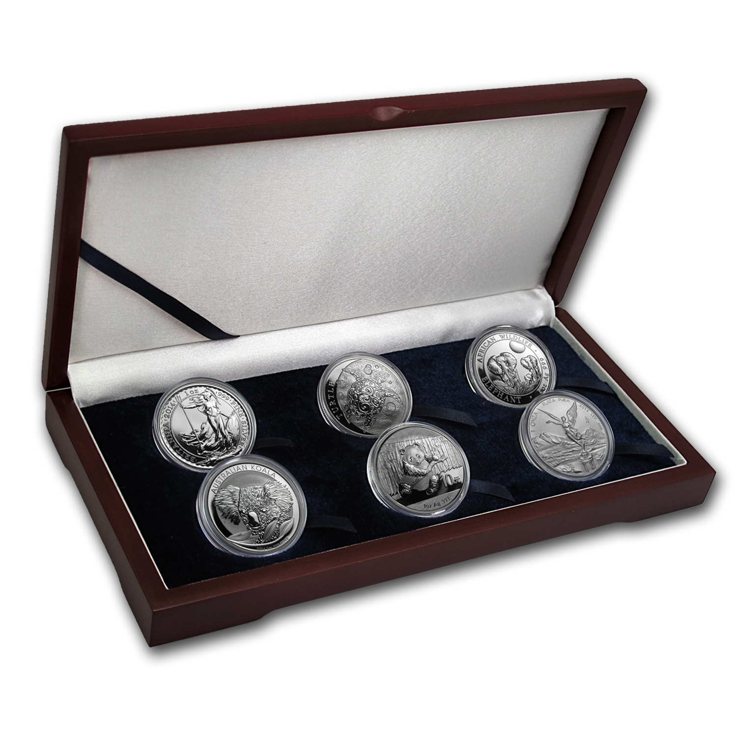 2014 6-Coin 1 oz International Silver Bullion Set