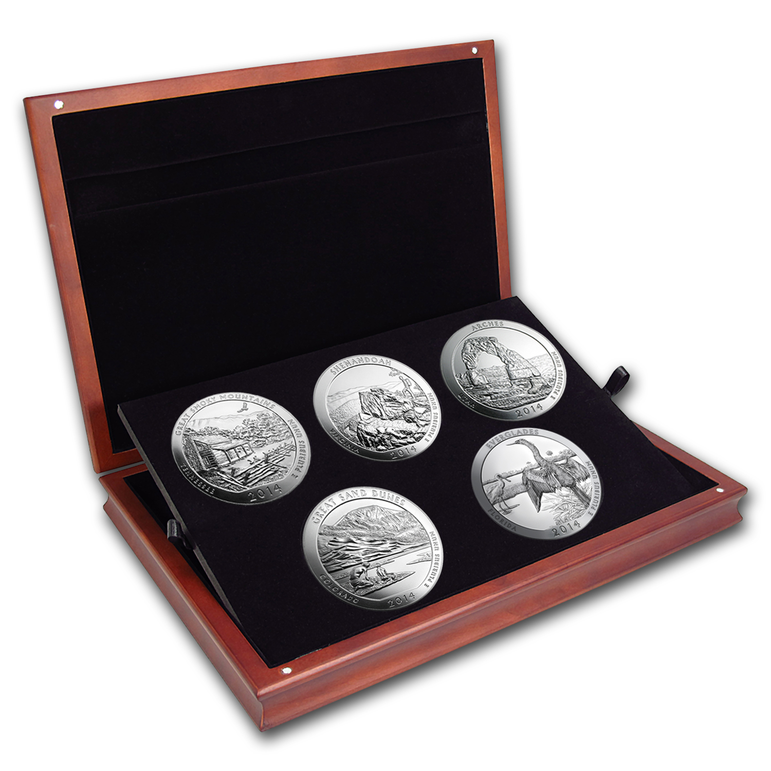 2014 5-Coin 5 oz Silver ATB Set (Elegant Display Box)