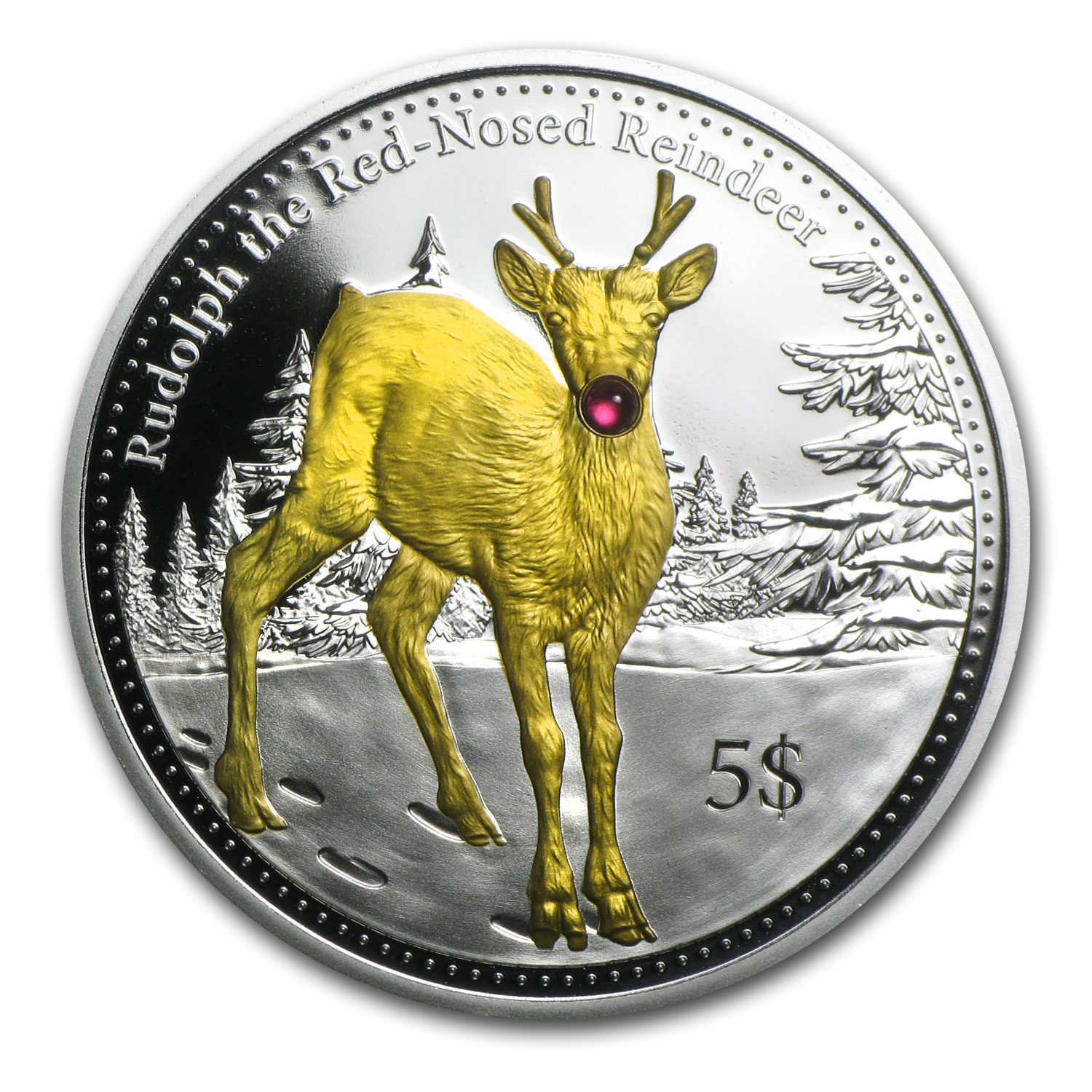 2014 Christmas Island Proof Silver Rudolph the Red-Nosed Reindeer